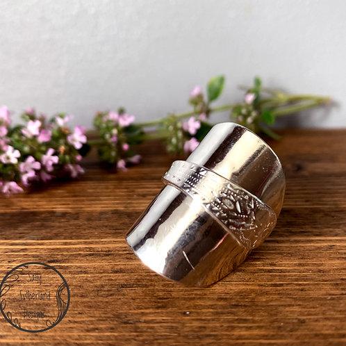 Vintage Silver Spoon Ring N/6.5