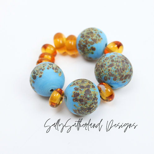 Weather Hollows, Etched Bead Set