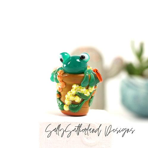 Flowerpot Frog Bead