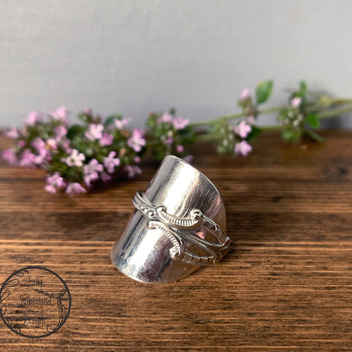 Vintage Silver Spoon Ring R/ 8.5