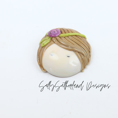 Large Doll Face Brooch