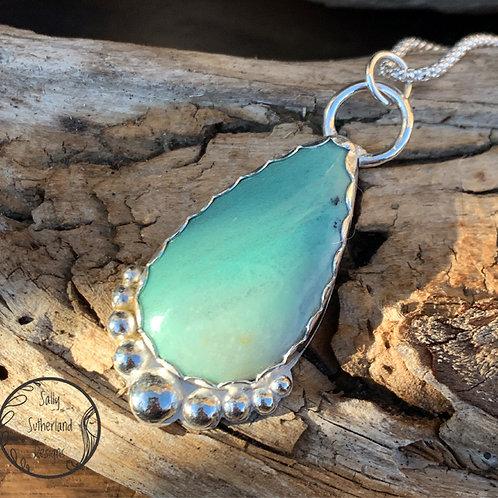 Peruvian Opal Wood Necklace