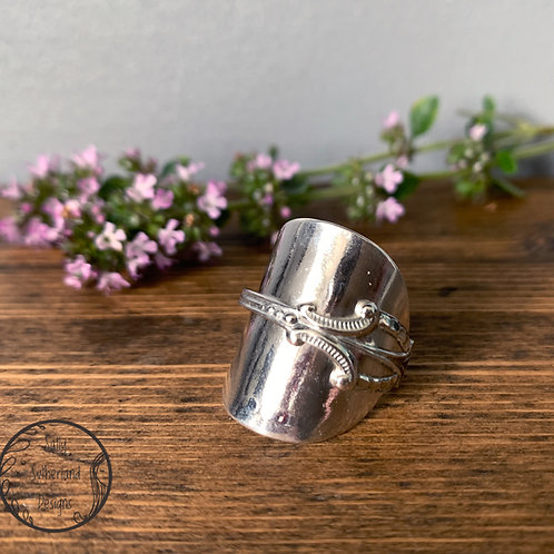 Vintage Silver Spoon Ring S/9