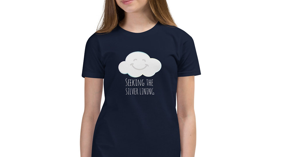 Youth Short Sleeve T-Shirt Smiling Cloud