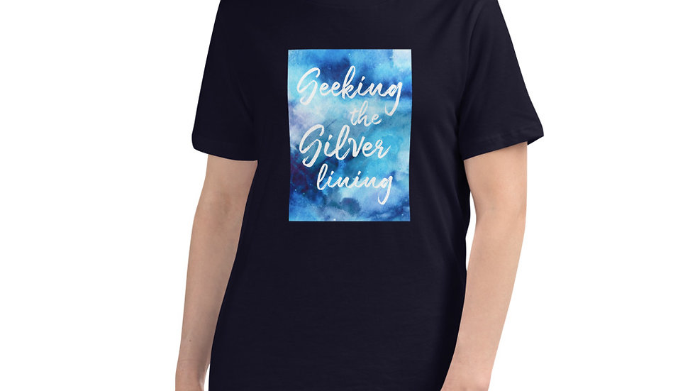 Women's Relaxed T-Shirt Seeking the silver lining