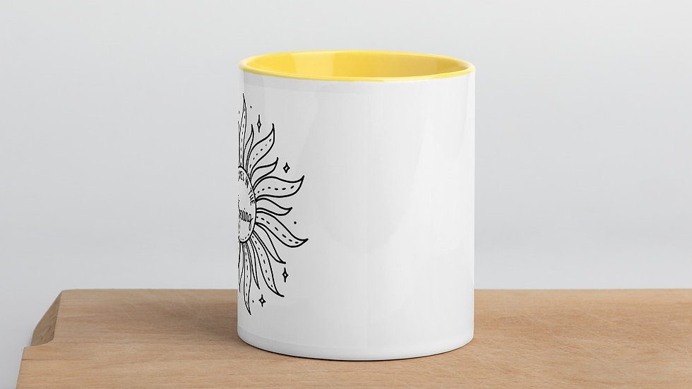 Mug with Color Inside Joy comes in the morning