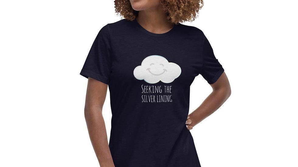 Women's Relaxed T-Shirt Smiling Cloud