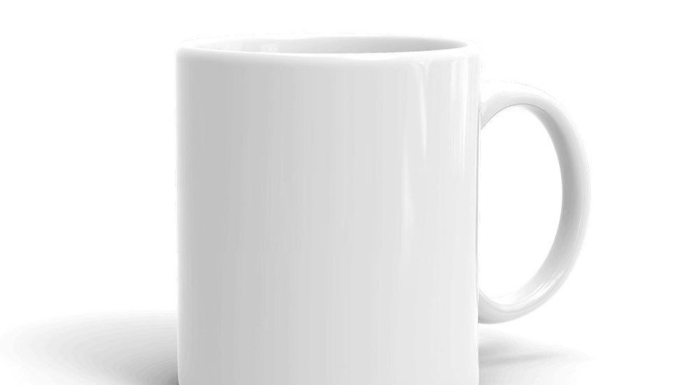 White glossy mug Seeking the silver lining