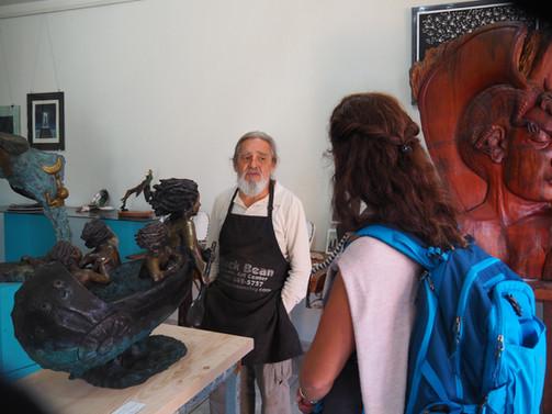A wonderful sculptor that Fabienne was a fan of!