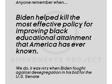 Biden Says No To Actual Desegregation in 1972