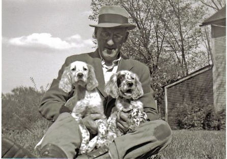 Earl Twombly with English Setter pups