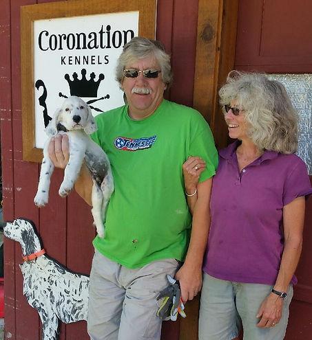 Legh Higgins, Jenn Higgins, Coronation Kennels, English Setter puppy