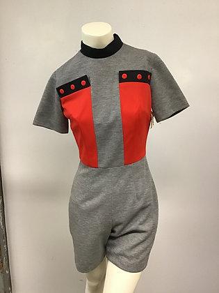1960's Mod Romper Jumpsuit Mini Shorts Stewardess Style!