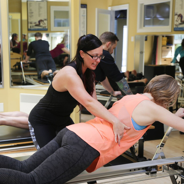 Dana Carter Leading Reformer Teacher Training