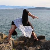 Dana Carter in wheel yoga pose