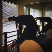 Dana Carter on Pilates Ladder Barrel