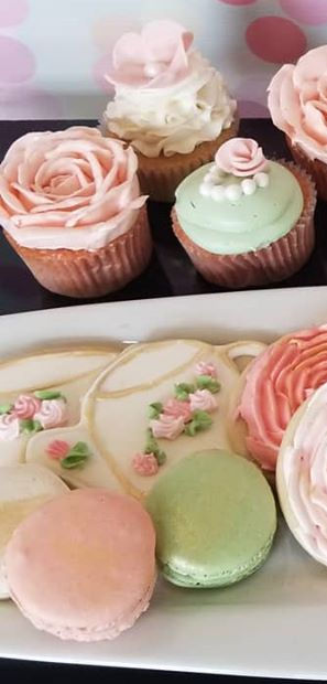 Custom Cupckaes and Iced Sugar Cookies