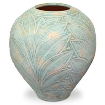 Váza - zelené listy