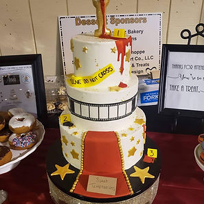 Custom Cake for Mystery Fundraiser