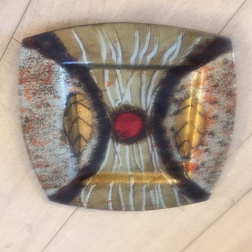 Skleněný dekorační talíř