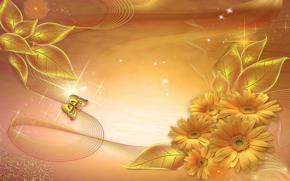 gold_background_lines_stars_leaves_72322