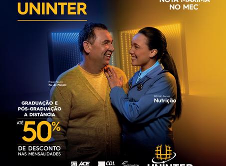 Mês dos Pais Uninter proporciona até 50% de desconto nas mensalidades