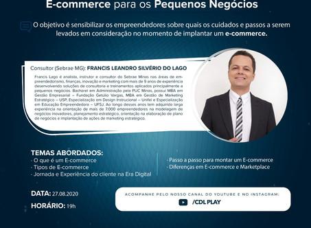Sindicomércio em parceria com a Fecomércio e SEBRAE MG realizam live sobre E-Commerce para Pequenos