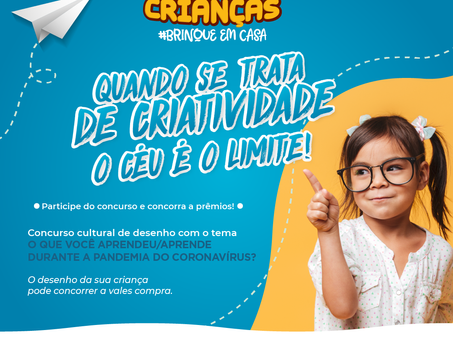 Entidades promovem Concurso Cultural  no comércio para o Dia das Crianças - #brinqueemcasa