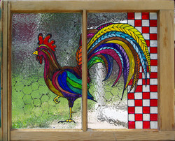Painted Rooster