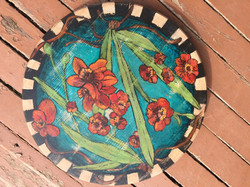 Red Flower Lazy Susan