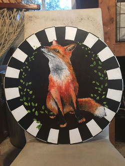 Red Fox Lazy Susan