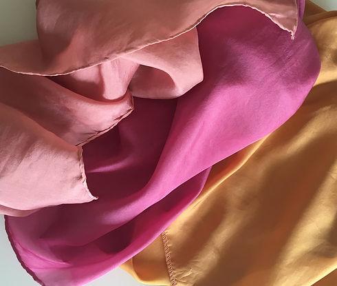 soie teinture cochenille