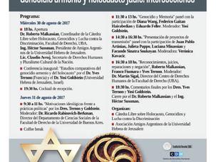 Jornadas sobre Genocidio Armenio y Holocausto Judío