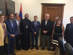 Encuentro de IARA en Armenia con el nuevo ministro de la Diáspora, Mkhitar Hayrapetyan