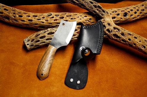 "Moore Maker Handmade small 7"" camp cleaver & sheath set"