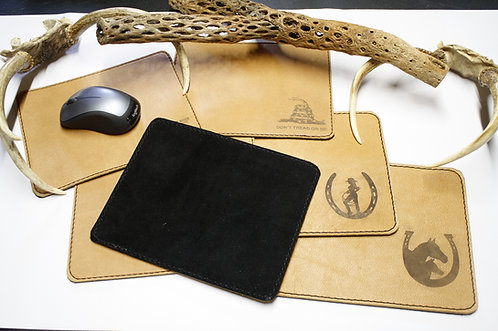 Double sided Leather Mouse Pad