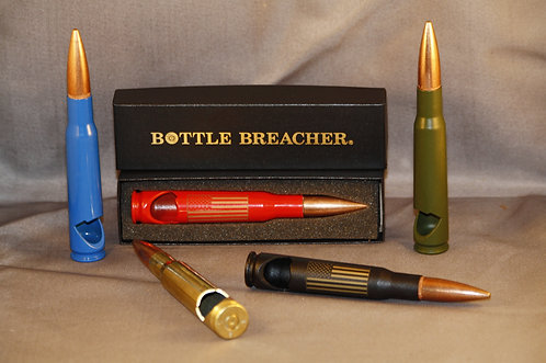 50 Cal laser engraved Bottle Breachers