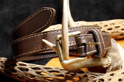 Double layer leather gun belts