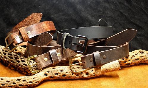 Water Buffalo leather belts