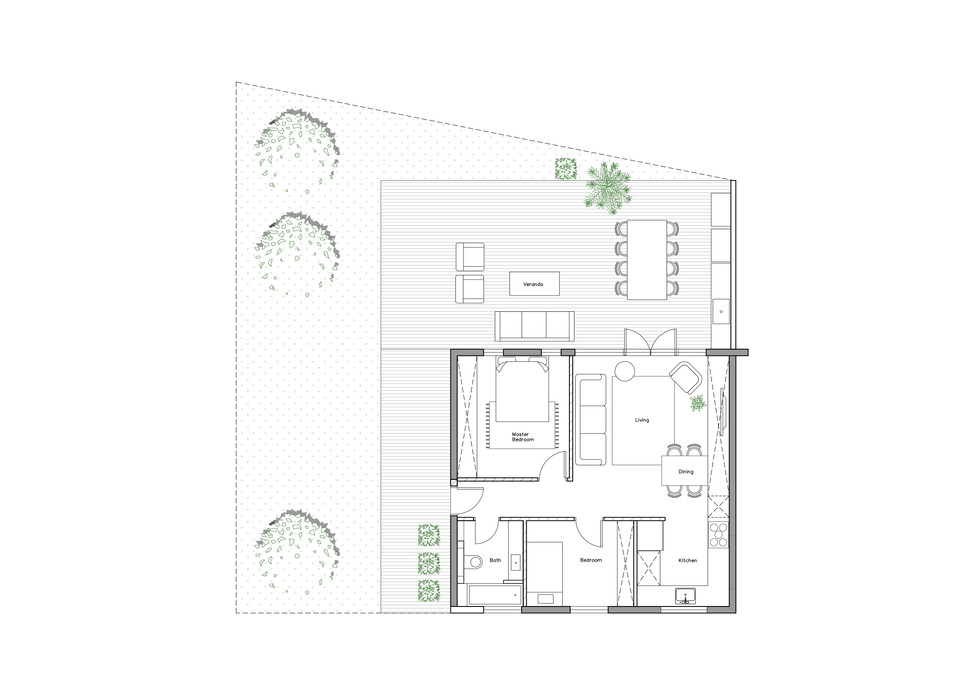 R House - floor plan