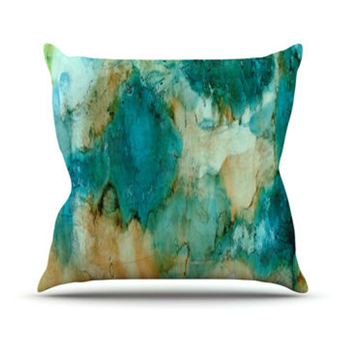 Watercolor Waterfall 20 x 20 Outdoor Pillow