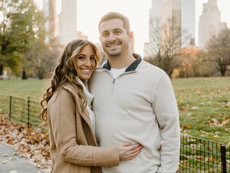 New York City Engagement Fall Photoshoot
