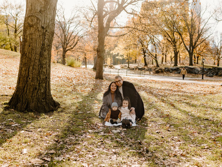 Family Photoshoot in Central Park, New York City