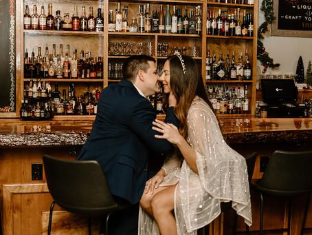 Cocktail Bar Engagement Session at Revival Lakeland