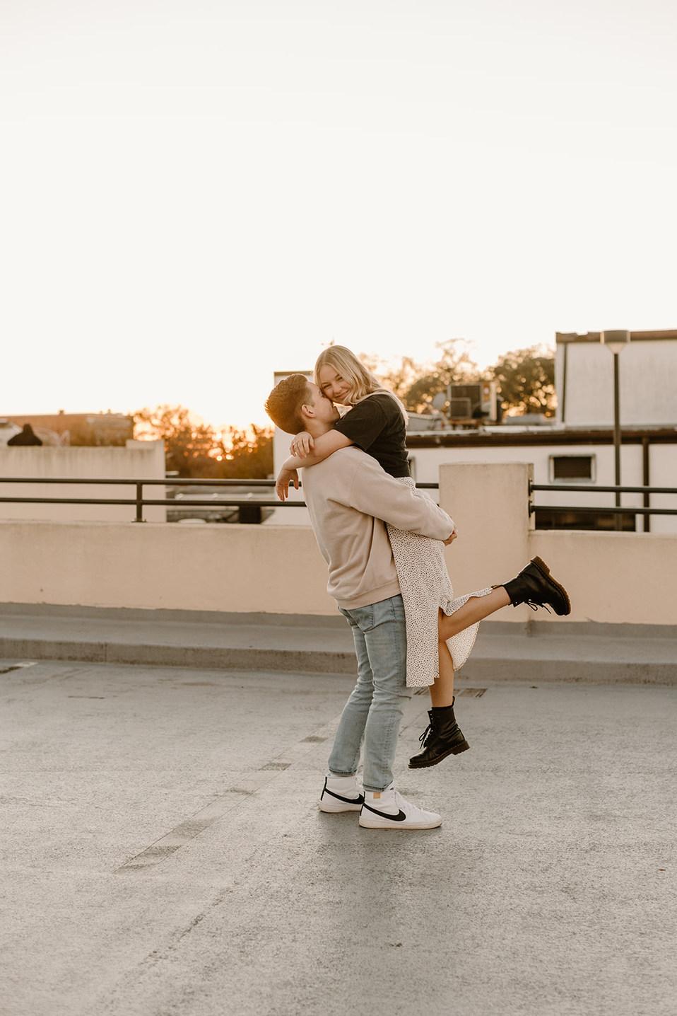 Lakeland Rooftop Couples Photoshoot