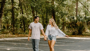 Orlando Couples Longboard and Springs Engagement Shoot