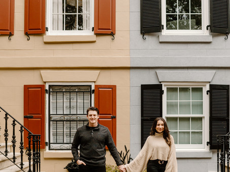 Fall Engagement Photos in Savannah, Georgia