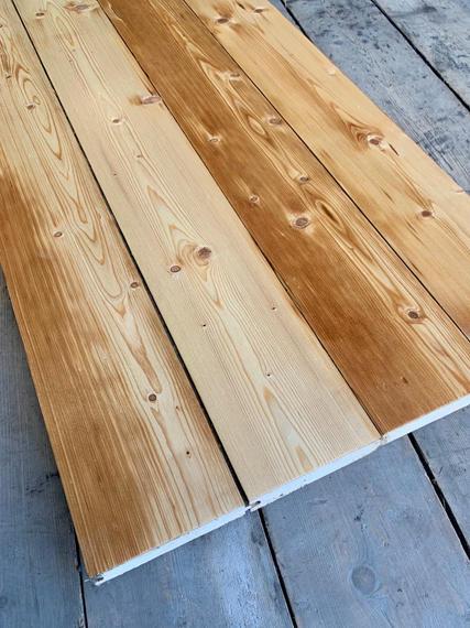 Redwood Pine Floorboards