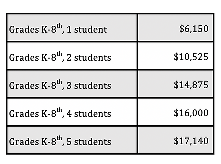 K-8 Tuition Table 2021-2022.png