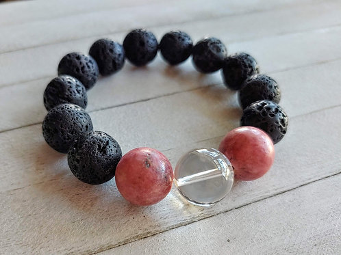 Rhodonite Anxiety Relief Aromatherapy Bracelet